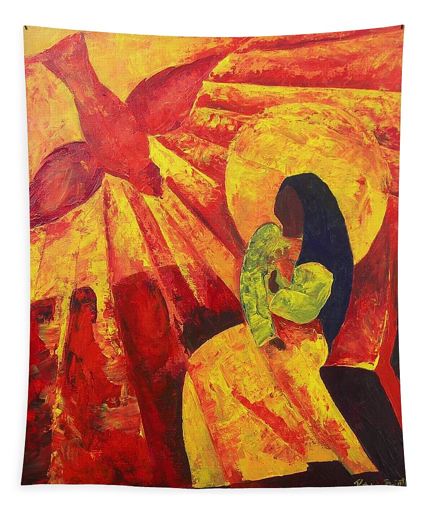 Haiti Tapestry featuring the painting Annunciation by Patricia Brintle