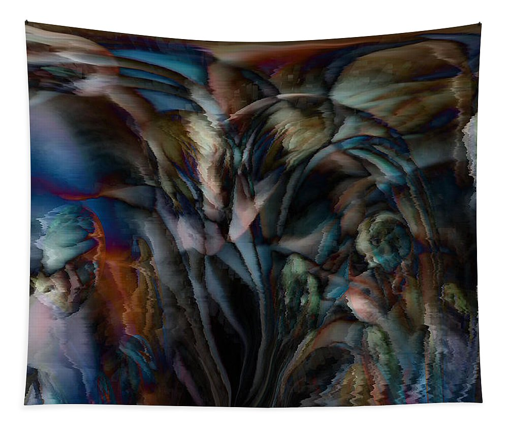 Another World Art Tapestry featuring the digital art Another World by Linda Sannuti