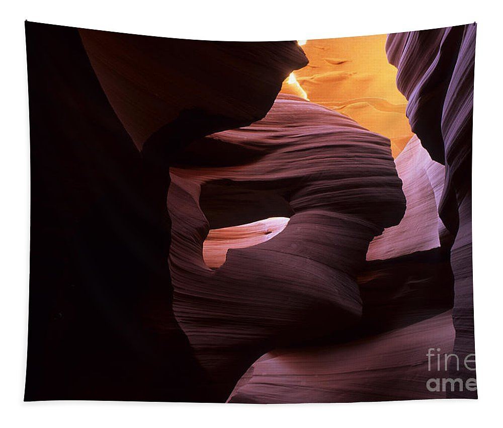 Antelope Canyon Tapestry featuring the photograph Antelope Canyon Touch Of Magic by Bob Christopher