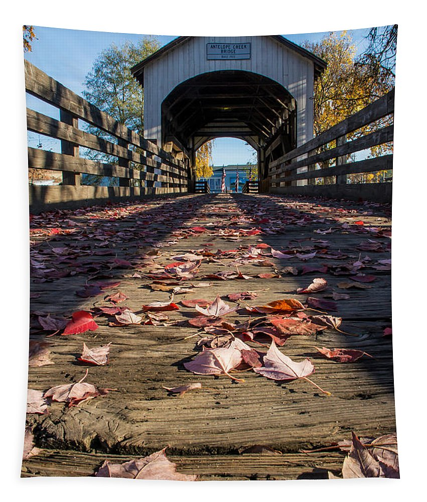 Antelope Creek Bridge Tapestry featuring the photograph Antelope Creek Bridge by Mick Anderson
