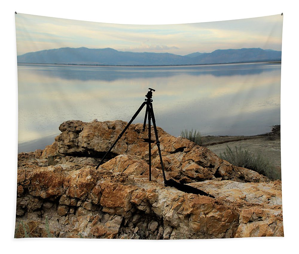 Antelope Island Antelope Island Tapestry featuring the photograph Antelope Island Sunset - 3 by Ely Arsha
