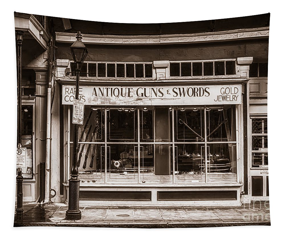 Shop Tapestry featuring the photograph Antique Guns And Swords - French Quarter by Kathleen K Parker