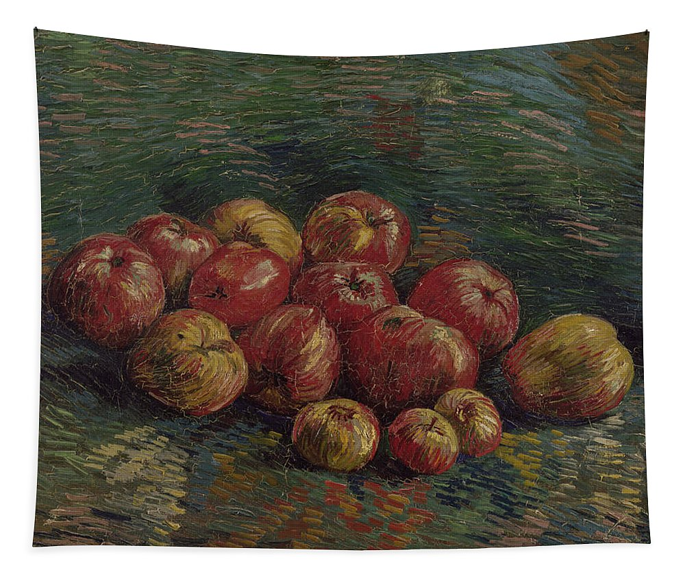 Vincent Van Gogh Tapestry featuring the painting Apples by Vincent Van Gogh