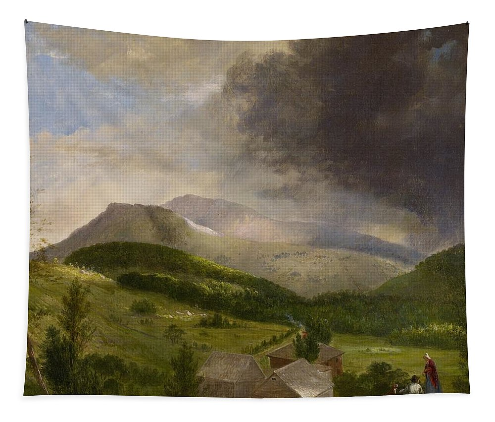 Couple Tapestry featuring the painting Approaching Storm White Mountains by Alvan Fisher