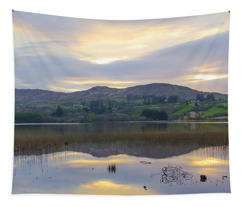 April Tapestry featuring the photograph April In Donegal - Lough Eske by Bill Cannon