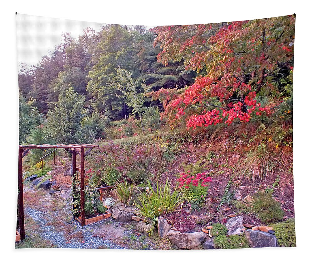 Duane Mccullough Tapestry featuring the photograph Arbor And Fall Colors by Duane McCullough