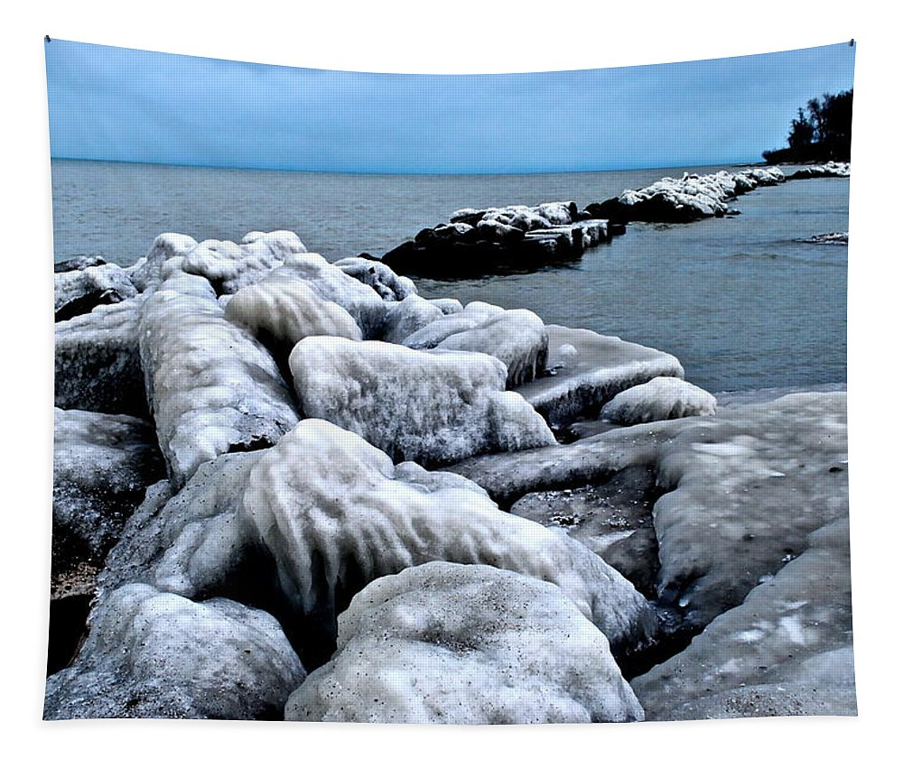 Freezing Tapestry featuring the photograph Arctic Waters by Frozen in Time Fine Art Photography
