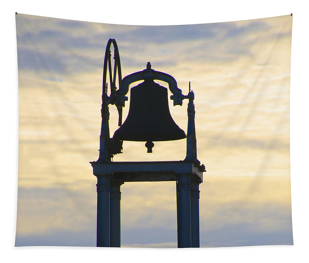 Ardara Tapestry featuring the photograph Ardara Church Bell by Bill Cannon