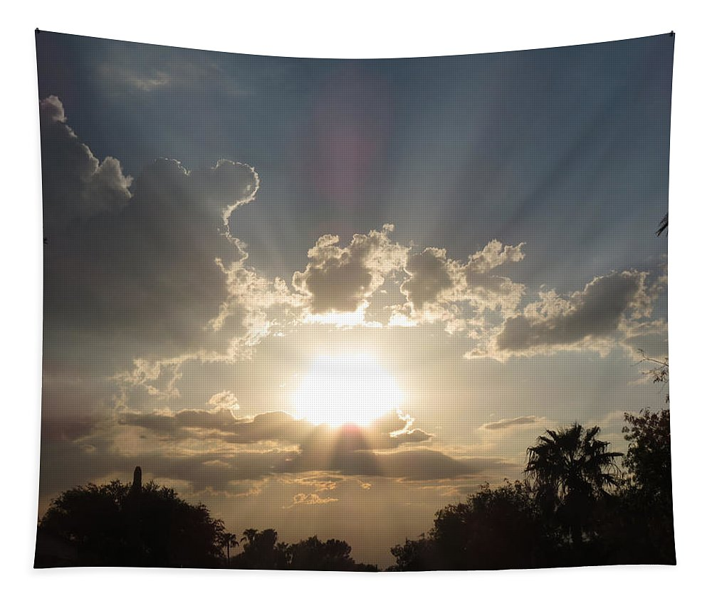 Sunset Tapestry featuring the photograph Arizona Sunset by Laurel Powell