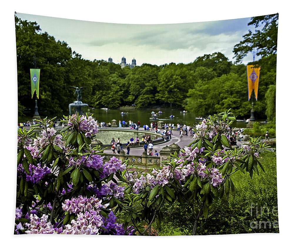 Central Park Tapestry featuring the photograph Around Bethesda Fountain by Madeline Ellis