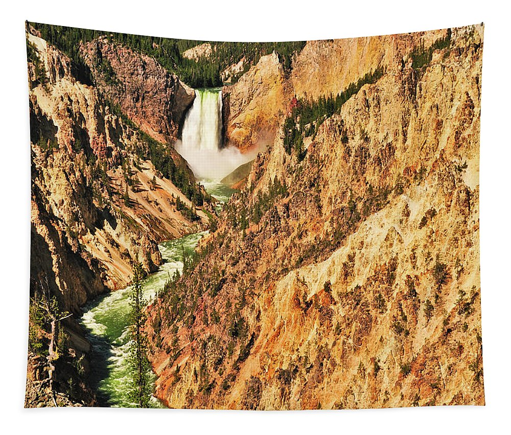 Yellowstone National Park Tapestry featuring the photograph Artist Point View by Greg Norrell