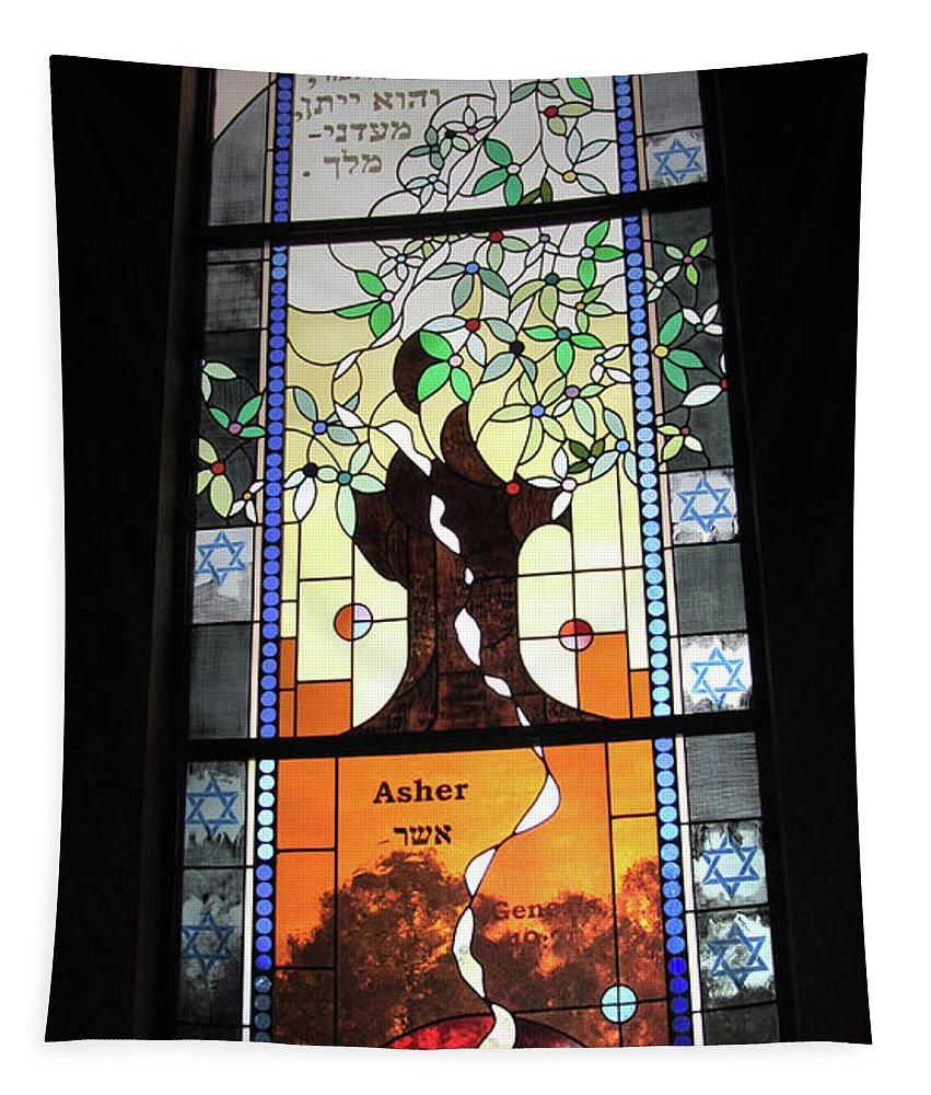 Window Tapestry featuring the photograph Asher Food Will Be Riches by Donna Brown