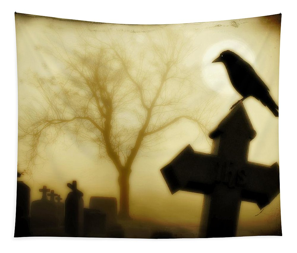 Gothic Image Tapestry featuring the photograph At Midnight by Gothicrow Images