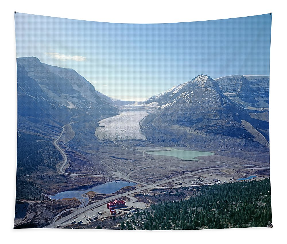 Athabasca Glacier Tapestry featuring the photograph 1m3735-athabasca Glacier by Ed Cooper Photography