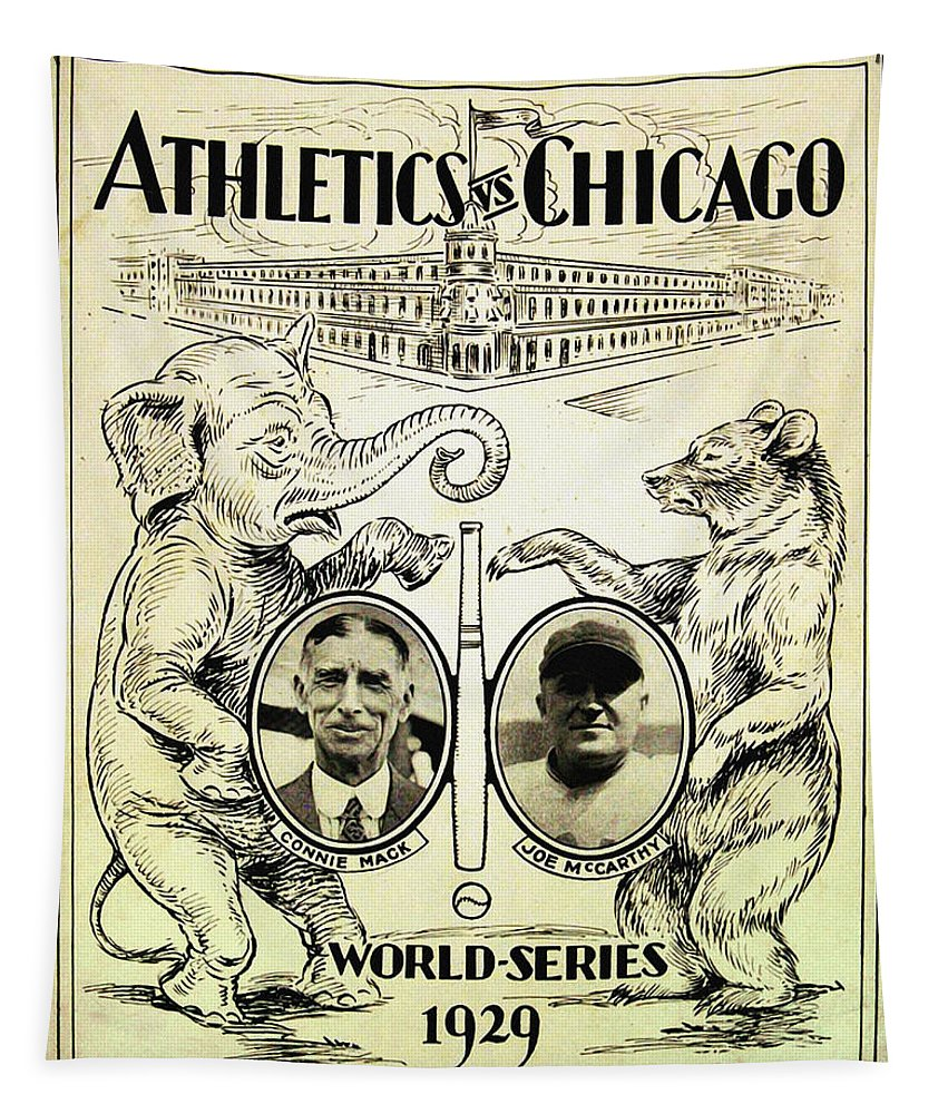 Athletics Tapestry featuring the photograph Athletics Vs Chicago 1929 World Series by Bill Cannon