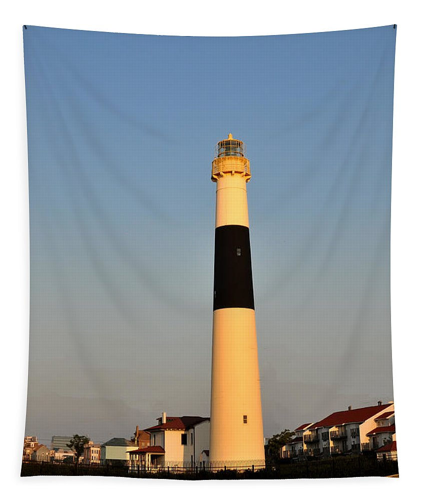 Atlantic Tapestry featuring the photograph Atlantic City - Absecon Lighthouse by Bill Cannon