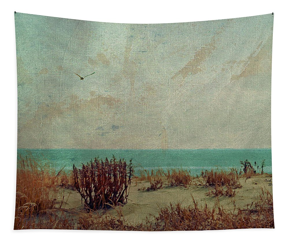 Ocean Tapestry featuring the photograph Atlantic City Seagull by Trish Tritz