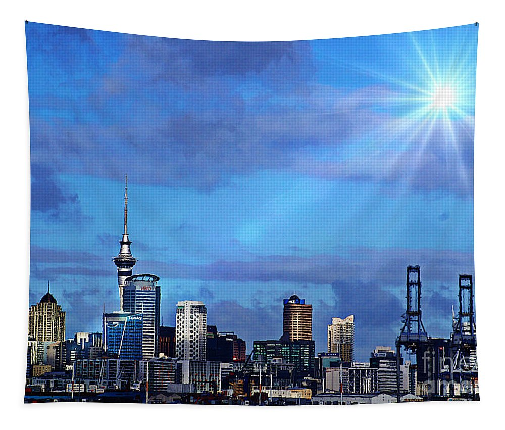 Auckland Tapestry featuring the photograph Auckland by Ben Yassa