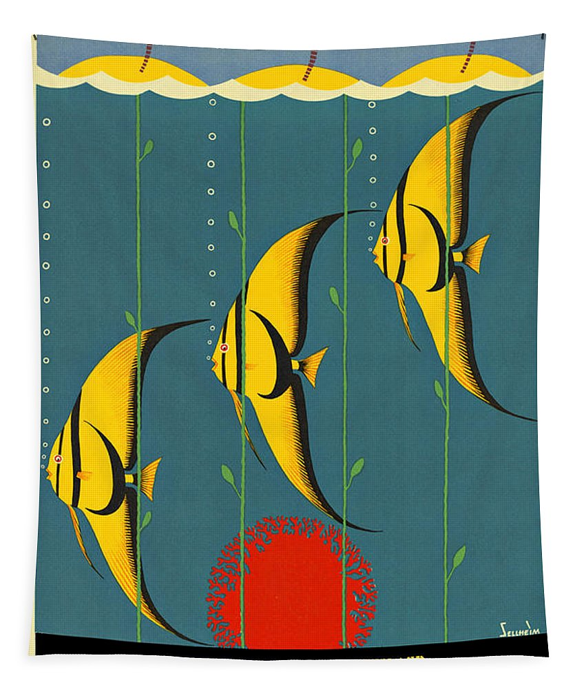 Australia Tapestry featuring the digital art Australia Vintage Travel Poster by Movie Poster Prints
