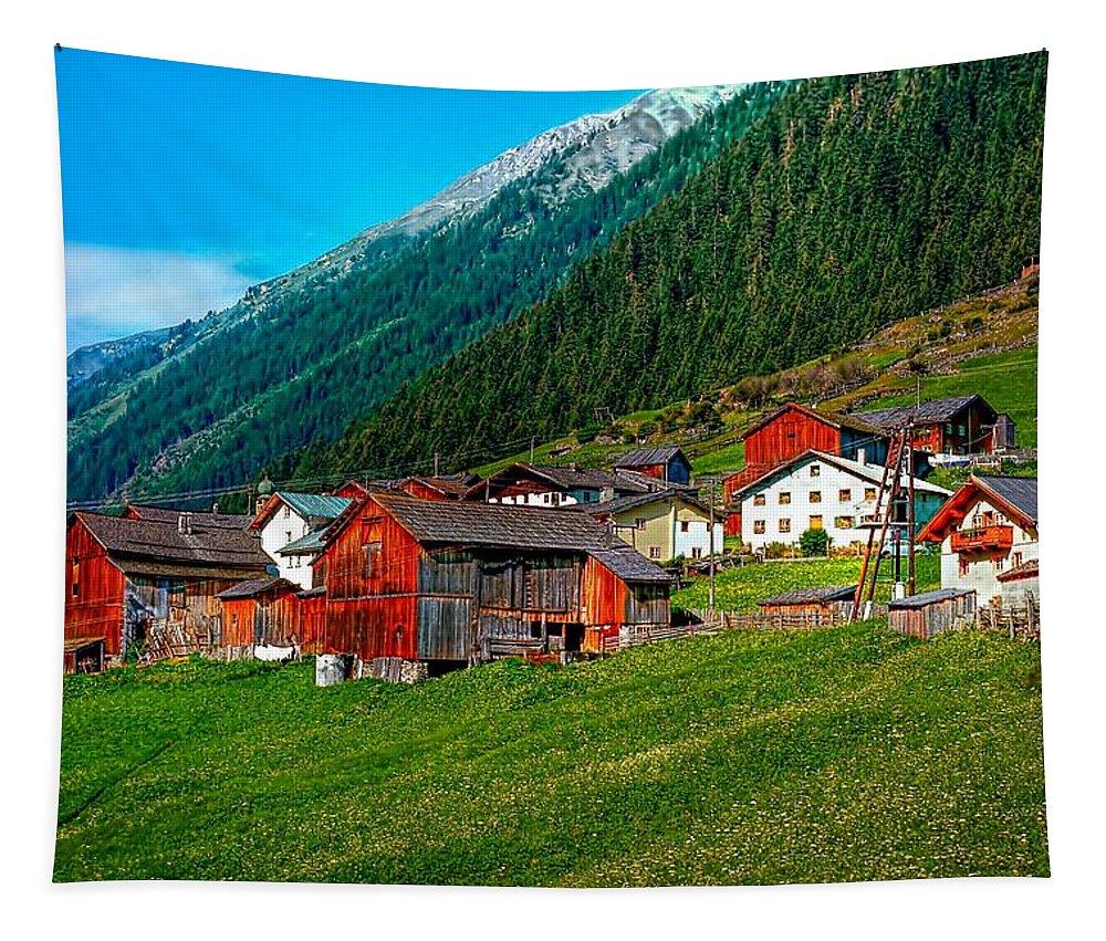 Austria Tapestry featuring the photograph Austrian Village by Steve Harrington