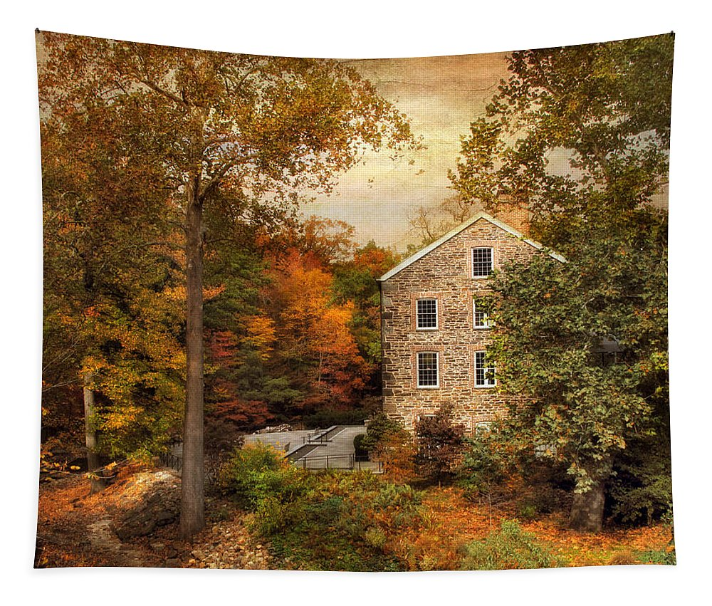 Autumn Tapestry featuring the photograph Autumn At Stone Mill by Jessica Jenney