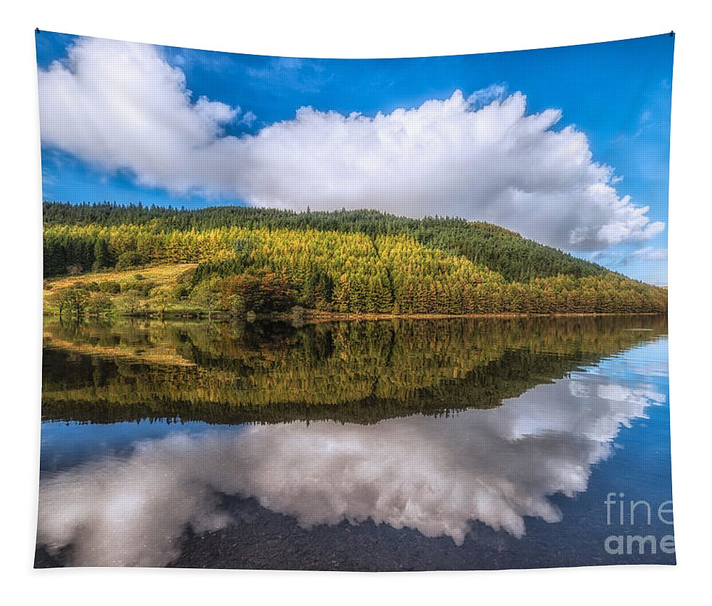 Betws Y Coed Tapestry featuring the photograph Autumn Clouds by Adrian Evans
