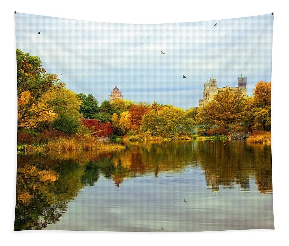 Autumn Tapestry featuring the photograph Autumn Colors - Nyc by Madeline Ellis