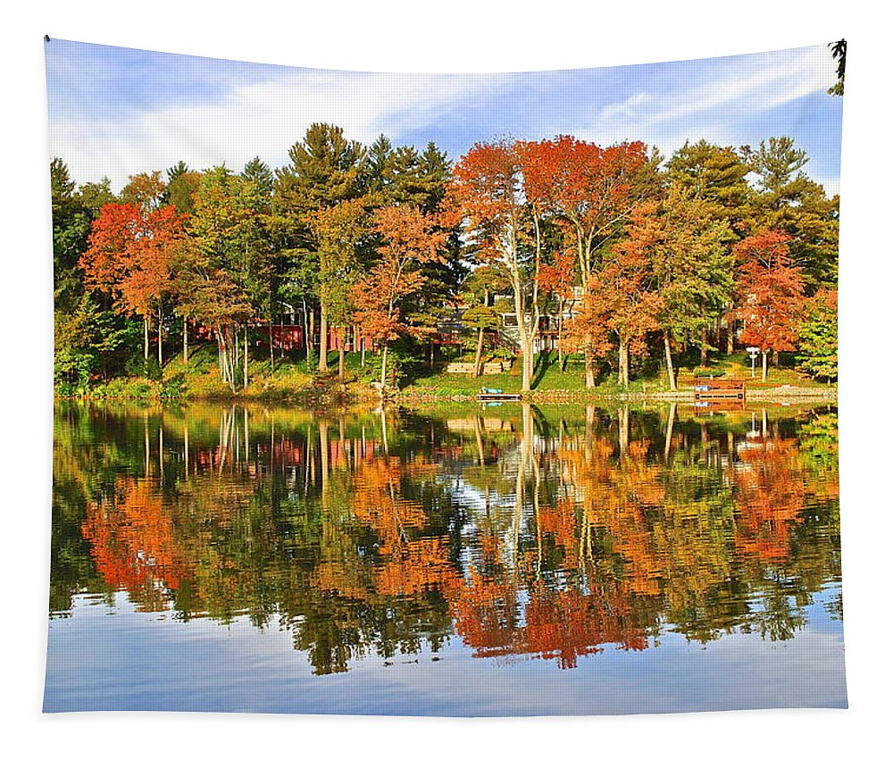 Autumn Tapestry featuring the photograph Autumn In Ohio by Frozen in Time Fine Art Photography