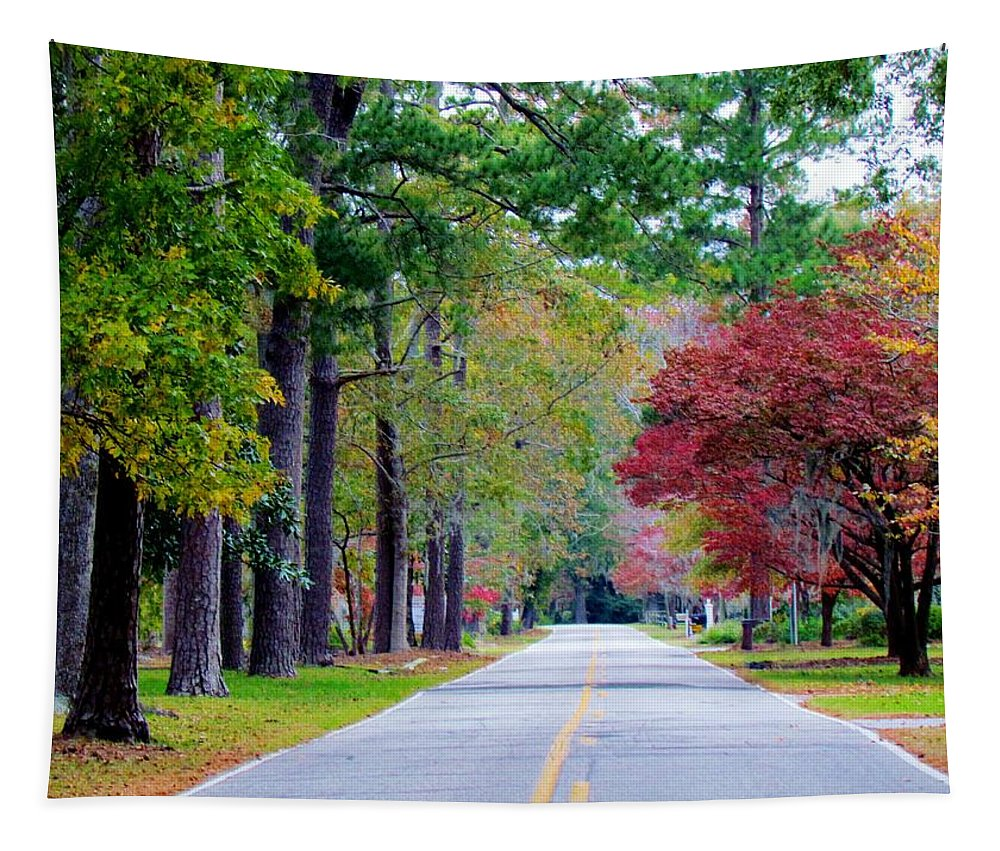 Autumn Tapestry featuring the photograph Autumn In The Air by Cynthia Guinn