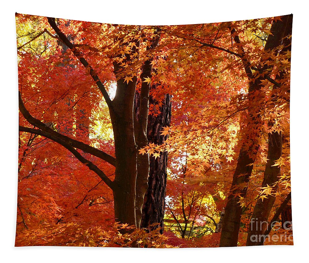 Autumn Leaves Tapestry featuring the photograph Autumn Leaves by Carol Groenen