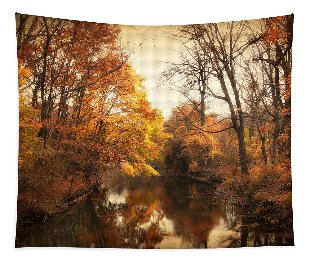 Autumn Tapestry featuring the photograph Autumn Lingers by Jessica Jenney