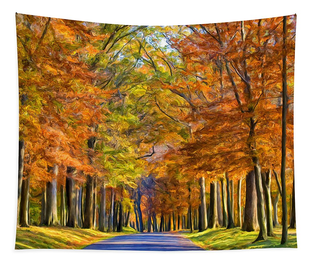 Autumn Tapestry featuring the painting Autumn Morning by Dominic Piperata