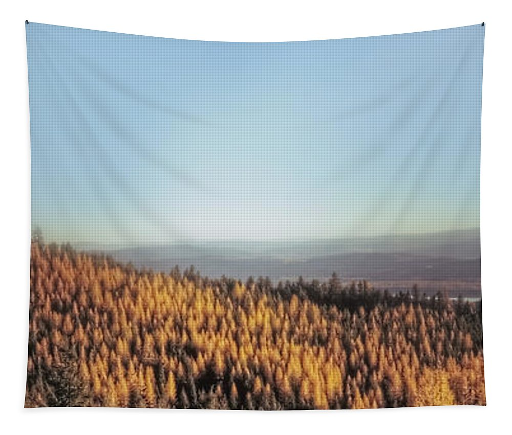 Landscape Tapestry featuring the photograph Autumn Mountains by Janie Johnson