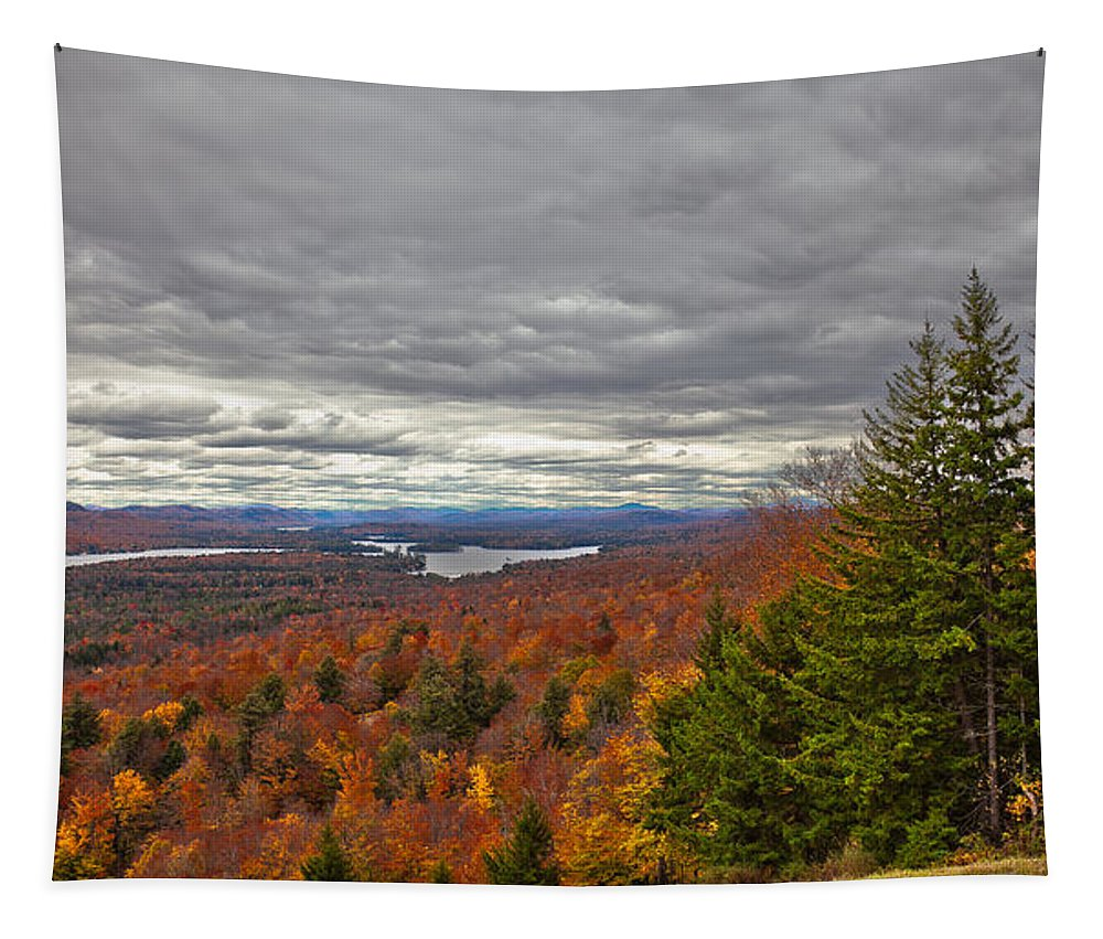 Autumn On Top Of Mccauley Mountain Tapestry featuring the photograph Autumn On Top Of Mccauley Mountain by David Patterson
