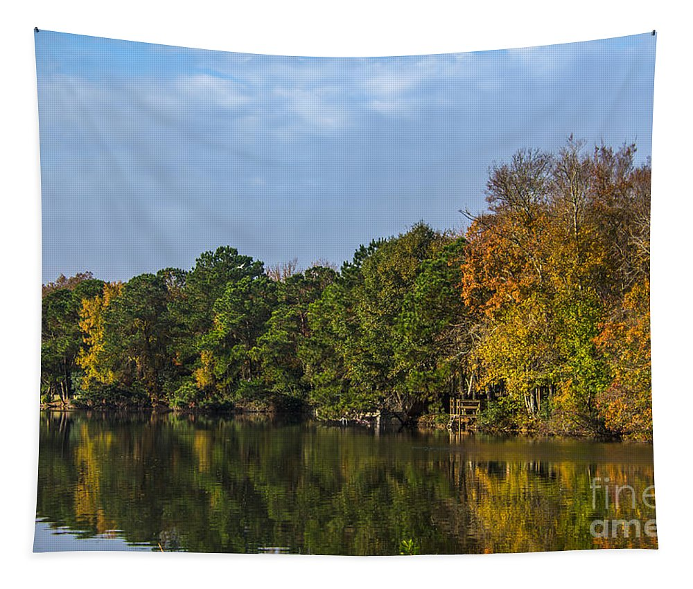Autumn Tapestry featuring the photograph Autumn Pond by Dale Powell