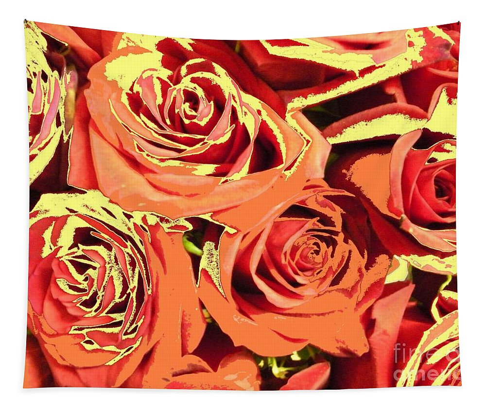 Tapestry featuring the photograph Autumn Roses On Your Wall by Joseph Baril