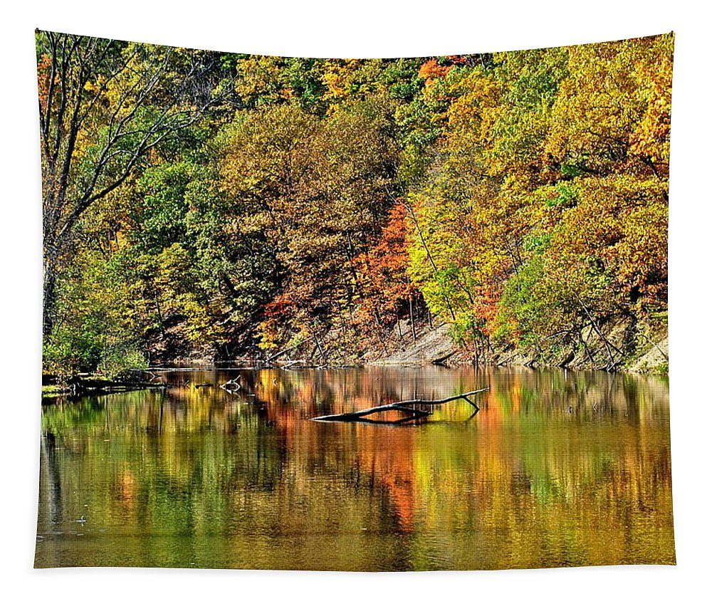 Autumn Tapestry featuring the photograph Autumns Glow by Frozen in Time Fine Art Photography