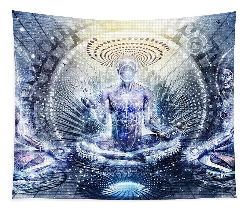 Spiritual Tapestry featuring the digital art Awake Could Be So Beautiful by Cameron Gray