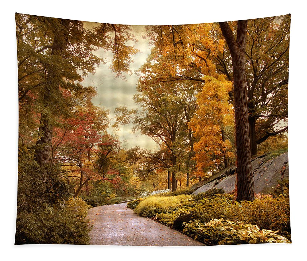Autumn Tapestry featuring the photograph Azalea Garden In Autumn by Jessica Jenney