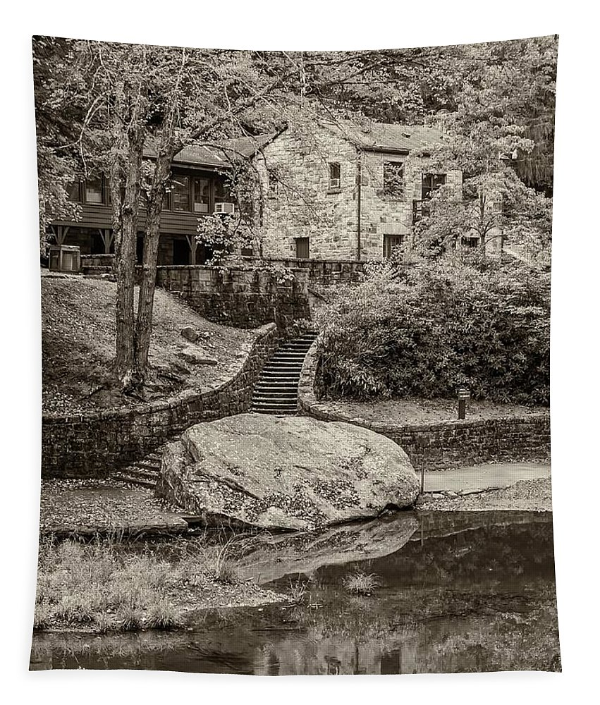 Babcock Tapestry featuring the photograph Babcock Sepia by Steve Harrington