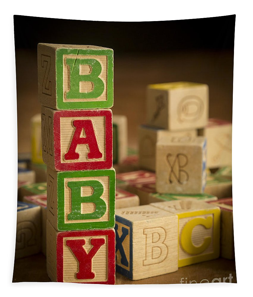 Blocks Tapestry featuring the photograph Baby Blocks by Edward Fielding