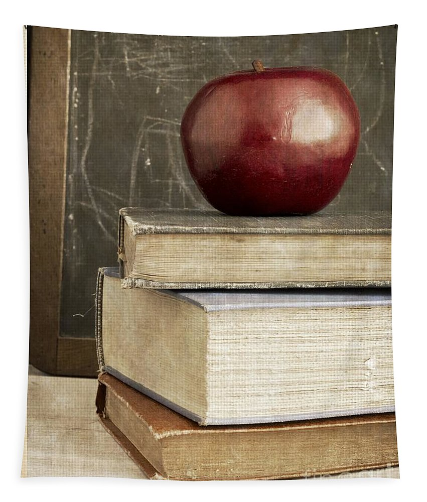 Back Tapestry featuring the photograph Back To School Apple For Teacher by Edward Fielding