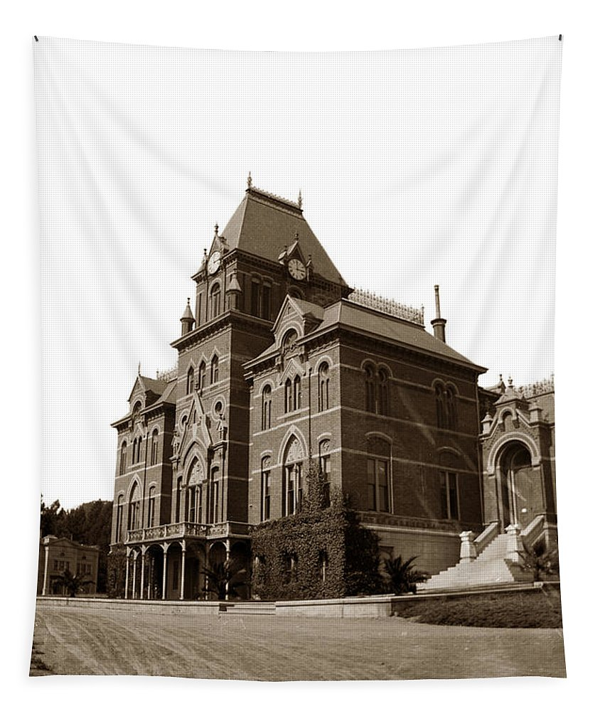 Bacon Hall Tapestry featuring the photograph Bacon Hall University Of California Berkeley Circa1895 by California Views Archives Mr Pat Hathaway Archives