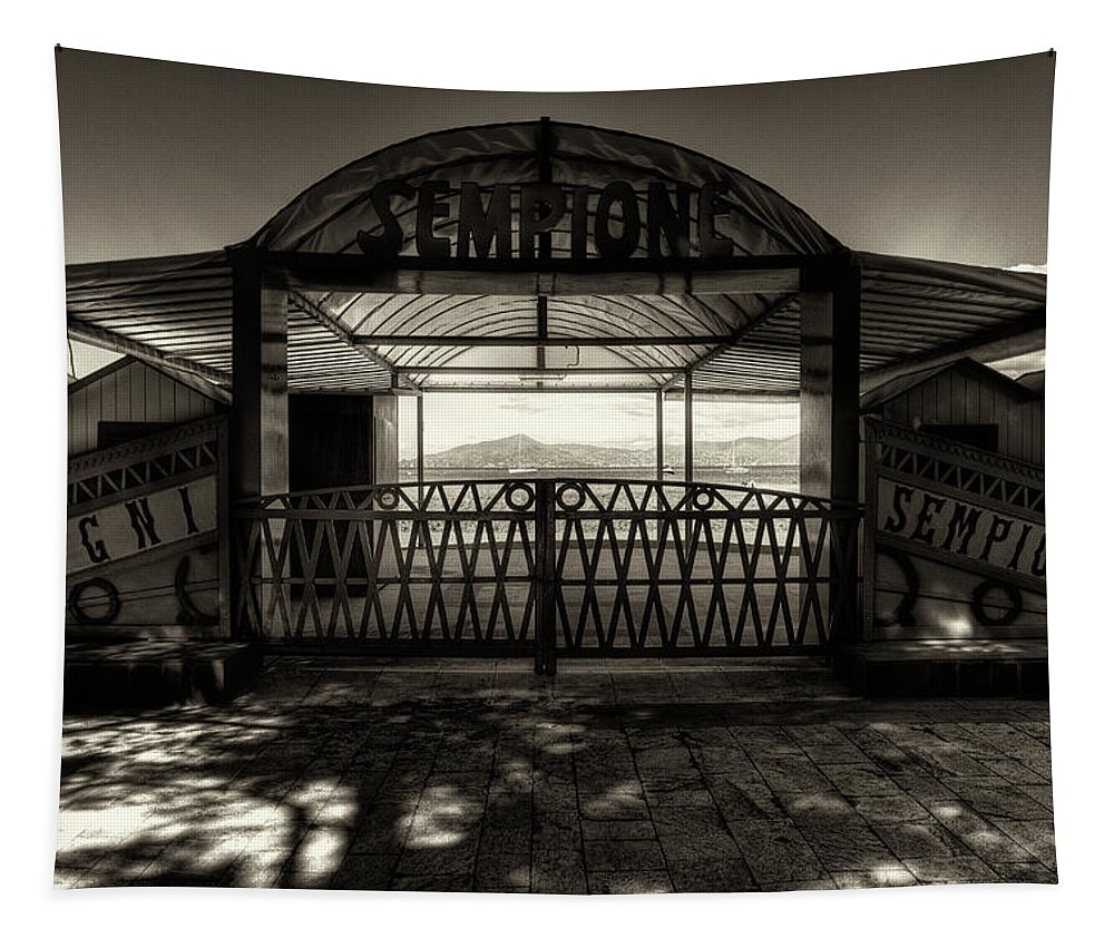 B&w Tapestry featuring the photograph Bagni Sempione by Roberto Pagani