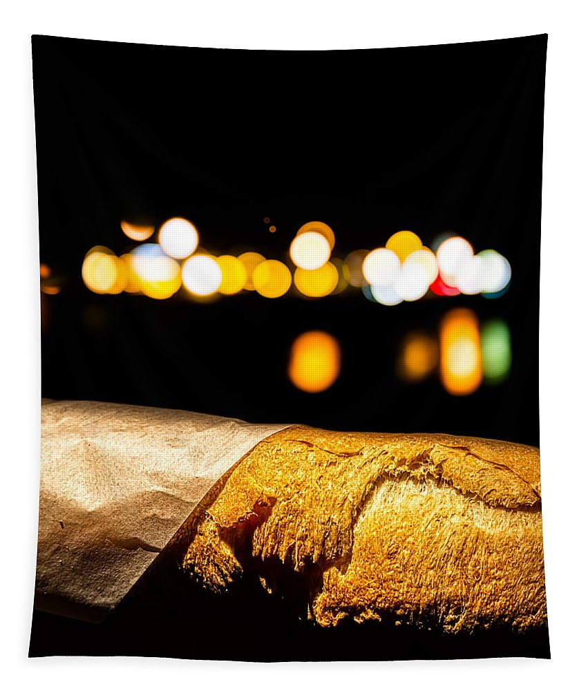 Bread Tapestry featuring the photograph Baguette Noir by Bob Orsillo
