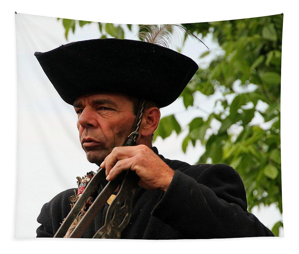 Bakod Puszta Tapestry featuring the photograph Bakod Puszta Horseman by Laurel Talabere