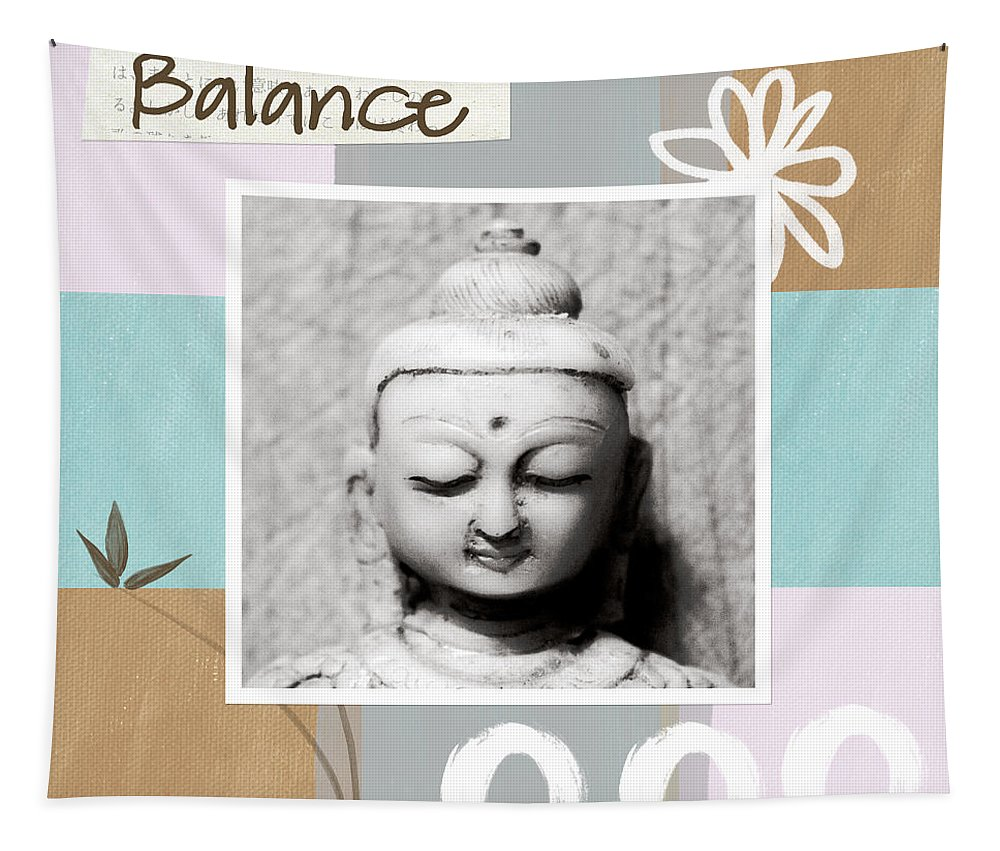 Buddha Tapestry featuring the painting Balance- Zen Art by Linda Woods