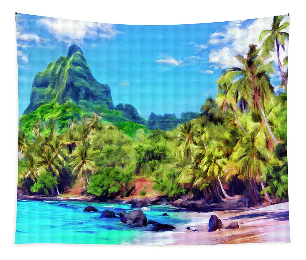 Bali Hai Tapestry featuring the painting Bali Hai by Dominic Piperata