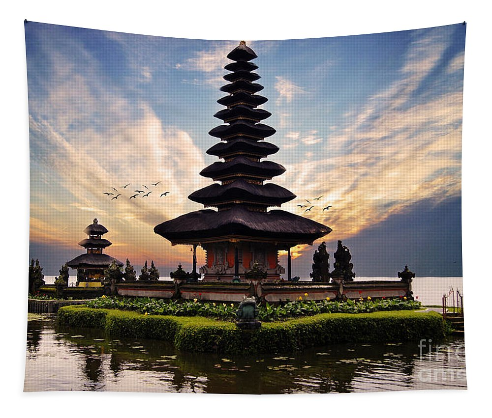 Bali Tapestry featuring the photograph Bali Water Temple 2 by Ben Yassa
