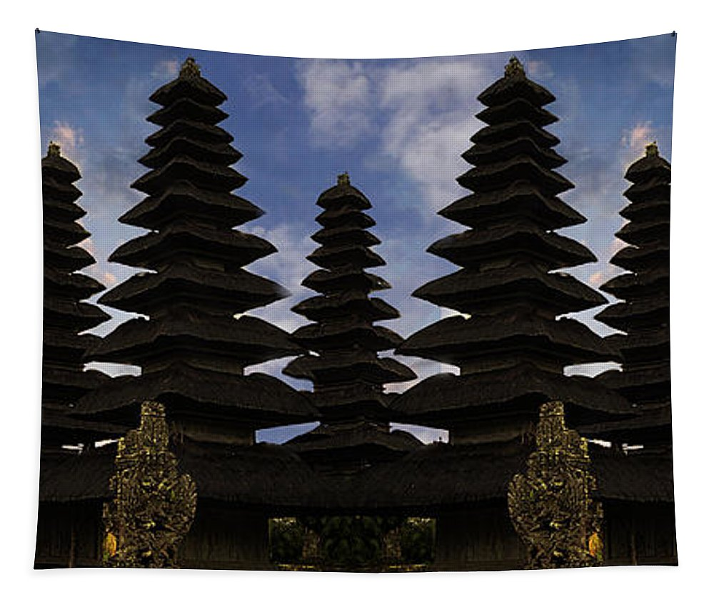 Temples Tapestry featuring the photograph Bali Water Temple by Ben Yassa